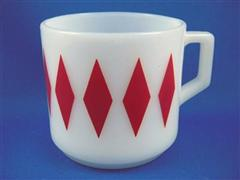 Short Mug Diamond Red