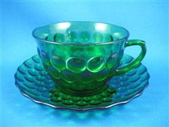 Forest Green Bubble Cup & Saucer