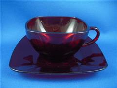Royal Ruby Charm Cup&Saucer