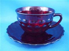 Royal Ruby Bubble Cup and Saucer