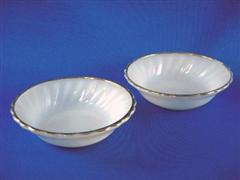 Shell Dessert Bowl White&Gold Set of 2