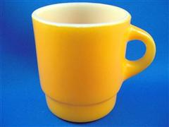 Stacking Color Mug Golden Round Handle