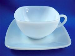 Azurite Blue Charm Cup & Saucers