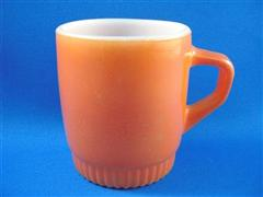 Stacking Color  Mug Light Brown Ribbed Bottom