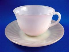 Pink Swirl Cup & Saucer