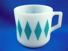 Short Mug Diamond Light Blue