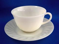 Ivory Swirl Cup & Saucer