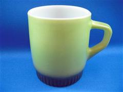 Stacking Color Mug  Avocado Olive Ribbed Bottom