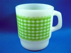 Gingham  Mug  Light Green