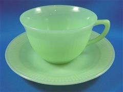 Jadeite Jane Ray Cup & Saucer