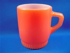 Stacking Color  Mug Orange Ribbed Bottom