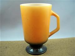 Orange/Black Padestal Mug
