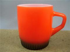 Stacking Color  Mug Red/Black Ribbed Bottom