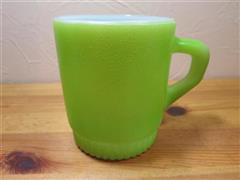 Stacking Color  Mug Light Green Ribbed Bottom