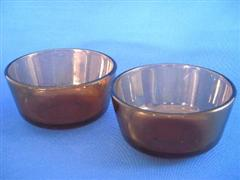 Custard Cap Amber Set of 2