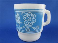 Lithograph Flower Blue